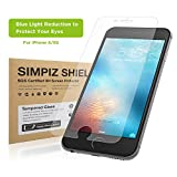 iPhone 6/6S Screen Protector, Simpiz® Shield Crystal Clear Ultra Thin Shatterproof Flexible Glass Screen Cover for iPhone 6 and iPhone 6S - Blue Light Cut for Eye Protection