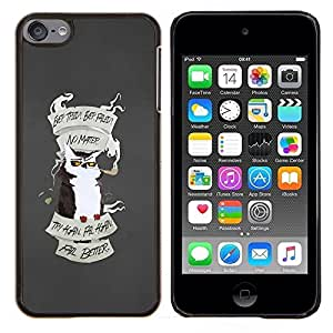 Eason Shop / Premium SLIM PC / Aliminium Casa Carcasa Funda Case Bandera Cover - Motivación Búho Try Again - For Apple iPod Touch 6 6th Touch6