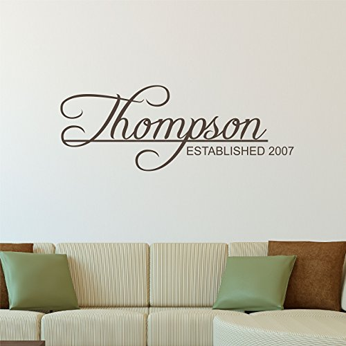 Custom Family Name Wall Decal - Personalized Name Wall Sticker - Custom Name Wall Sign -  sc 1 st  Amazon.com : personalized family wall decals - www.pureclipart.com