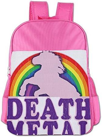 [해외]Funny Death Metal Unicorn Rainbow School Backpack Children Shoulder Daypack Kid Lunch Tote Bags RoyalBlue / Funny Death Metal Unicorn Rainbow School Backpack Children Shoulder Daypack Kid Lunch Tote Bags Pink