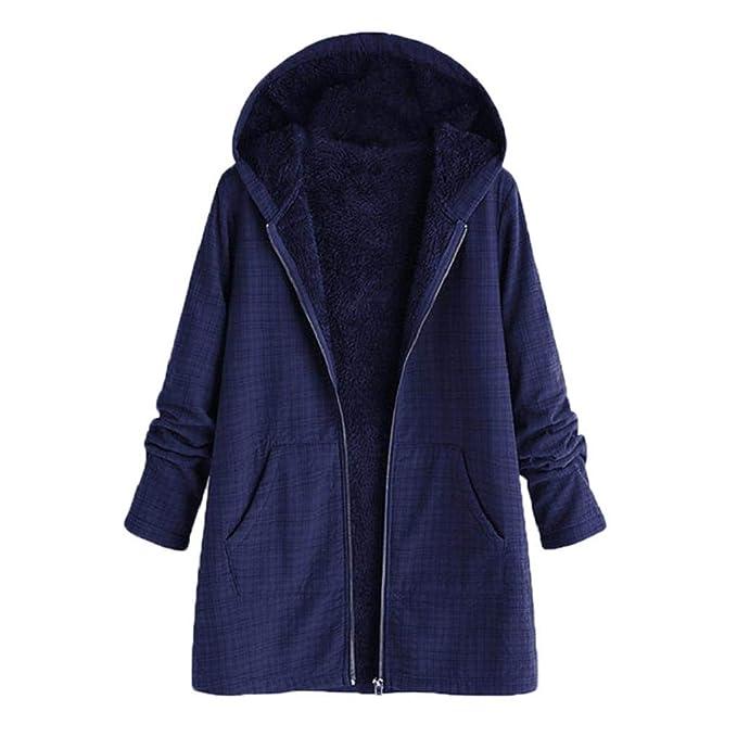 QUICKLYLY Abrigo De Invierno Mujer Libre Abrigos para Mujer Rebajas Talla Grande Abrigo con Capucha De