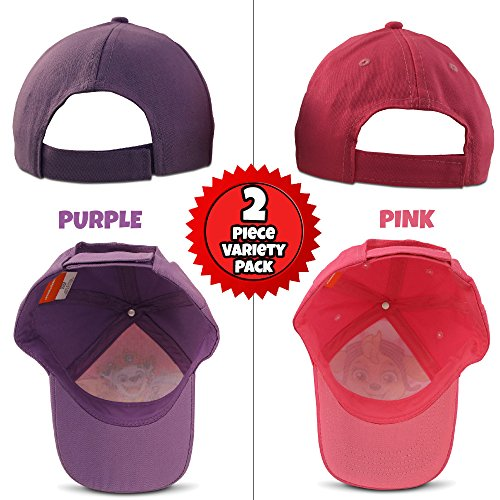 Nickelodeon Little Girls Paw Patrol Character Cotton Baseball Cap, 2 Piece Design Set, Age 2-7 (Little Girls – Age 4-7 (53CM)) by Nickelodeon (Image #5)