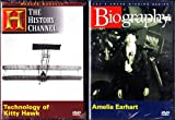 Amelia Earhart Biography , Technology Of Kitty Hawk The Story Of Orville and Wilbur Wright : Aviation History 2 Pack Collection