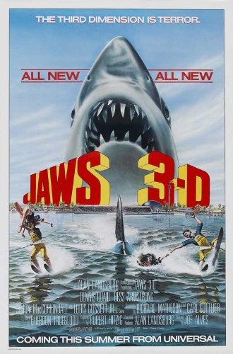- Jaws 3-D 27x40 Movie Poster (1983)
