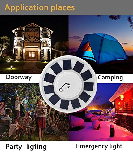 Elmchee [2018 Upgrade Version] Solar Flag Pole Light, 24 LED Waterproof Brightest, Most Powerful, Longest Lasting Flagpole Light Auto On/Off for Outdoor, Camping, Tent (White) by Elmchee (Image #2)