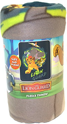 S.L. Home Fashions Lion Guard Team Lion Guard Character Fleece Blanket, 50 x 60-inches