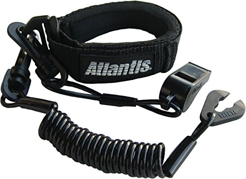 Atlantis Pro Floating Lanyard with Whistle - Black A8130PFW (Lanyards Floating Pro)