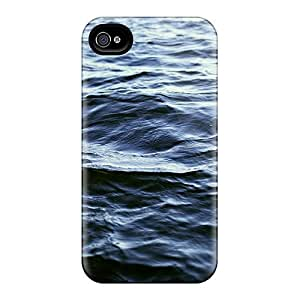 Tpu Fashionable Design Ocean Ripples Rugged Case Cover For Iphone 4/4s New