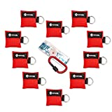 restaurant mask - CPR Mask Keychain Key Rings: (10-Pack) Face Mask Medical for Adults & Children, EMT Supplies, Perfect for Everyday Emergencies, First Aid Kits and Rescue AED Training