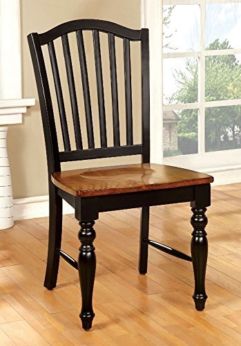 247SHOPATHOME IDF-3431SC Dining-Chairs, Black