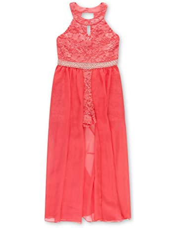 92556a4690ace8 Speechless Girls  Big High Neck Maxi Romper Dress