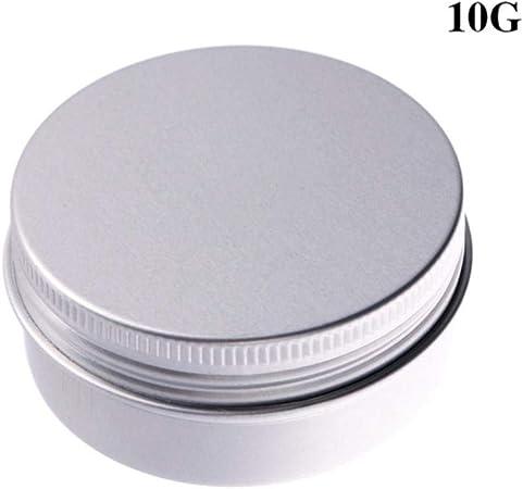TOMA 5 Pcs5 / 10/15/30 / 50ml Mini Caja de Almacenamiento de Metal Lata vacía contenedor Recargable Ordinario Espiral Superior Tanque de Almacenamiento de cosméticos, 10G: Amazon.es: Hogar