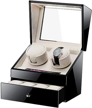 ZTMN Watch Winders Caja automática para enrollador de Reloj, para 2 + 4 Relojes Cajas Pantalla de Madera, con Caja silenciosa para enrollador de Reloj Motor: Amazon.es: Hogar