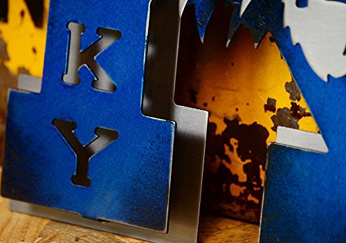 Gear New University of Kentucky Vintage 70s K 3D Metal College Man Cave Art, Large, Blue/Grey by Gear New (Image #5)