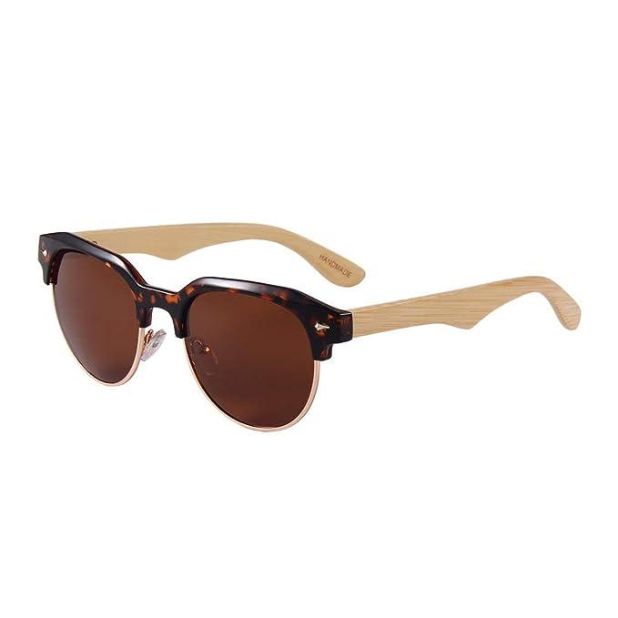 G+L UV400 bambú madera masculina y femenina piernas de bambú ...