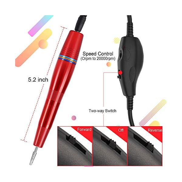 Portable Nail Drill, Electric Nail Drill for Acrylic Nails, USB Powered Professional E-file Kit & Acrylic Nail File…