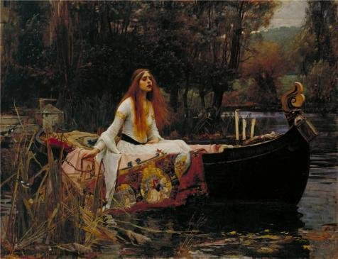 Oil Painting 'John William Waterhouse - The Lady Of Shalott,1888', 8 x 10 inch / 20 x 26 cm , on High Definition HD canvas prints is for Gifts And Bath Room, Bed Room And Foyer Decoration