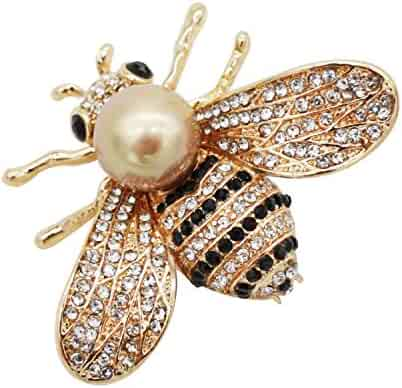 14c4ee947b7 ZUOZUOYA Lovely Honey Bee Brooch – 3 Colors Insect Themes with Gold,Silver  and Yellow