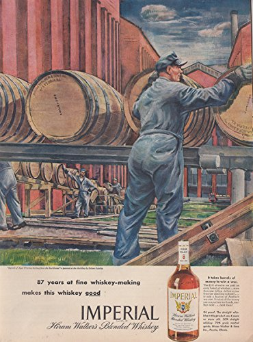 1945 Imperial Whiskey: 87 Years of Fine Whiskey Making, Hiram Walker Print (Hiram Walker Whiskey)