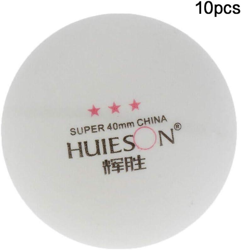 styleinside Pelotas de tenis de mesa de 10 piezas Pelotas de ping pong de 40 mm Bola de ping pong de entrenamiento Durable