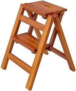 XITER Taburete Plegable de Madera con escalones para escaleras para Adultos y niños Taburete Escalera (Color : Brown): Amazon.es: Hogar
