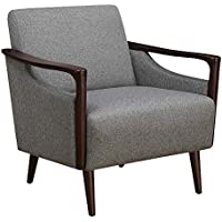 Scott Living Upholstered Accent Chair Grey and Brown