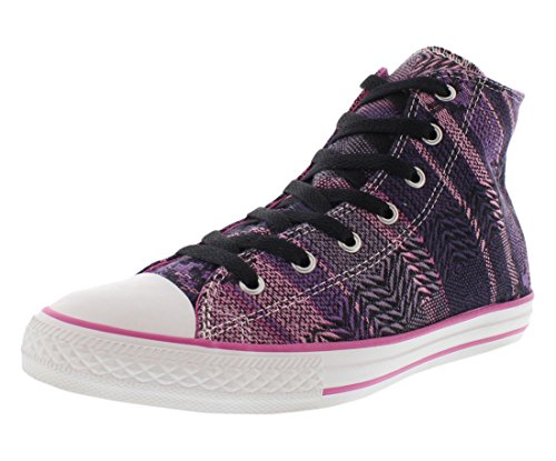 Converse Girls Chuck Taylor Hi Ankle-High Canvas Fashion Sneaker Multicolor