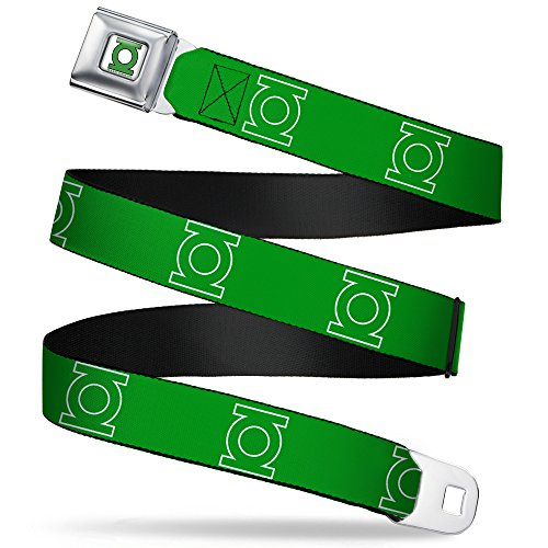 "Buckle-Down Seatbelt Belt - Green Lantern Logo Green/White - 1.0"" Wide - 20-36 Inches in Length"