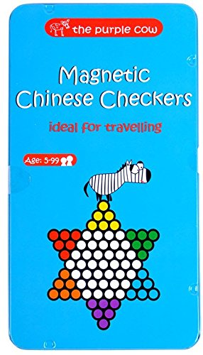 The Purple Cow- Magnetic, Lightweight, Travel Size Chinese Checkers Board Game for Kids and Adults. Classic Game with a Modern Twist.