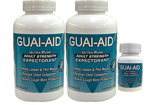 1024 Guai-Aid® 600mg Guaifenesin ''Ultra-Pure'' Expectorant Capsules - Includes 24 Size Travel Bottle by Guai-Aid®