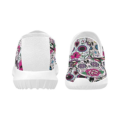 D-story Zapatos Fashion Slip-on Mujeres Canvas Sneakers Skull