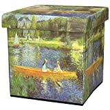 ORIENTAL FURNITURE The Seine by Renoir Storage Ottoman For Sale