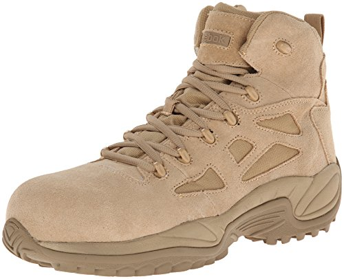 Tan Safety Steel Toe Boots - Reebok Work Men's Rapid Response RB8694 Safety Boot,Tan,10 M US