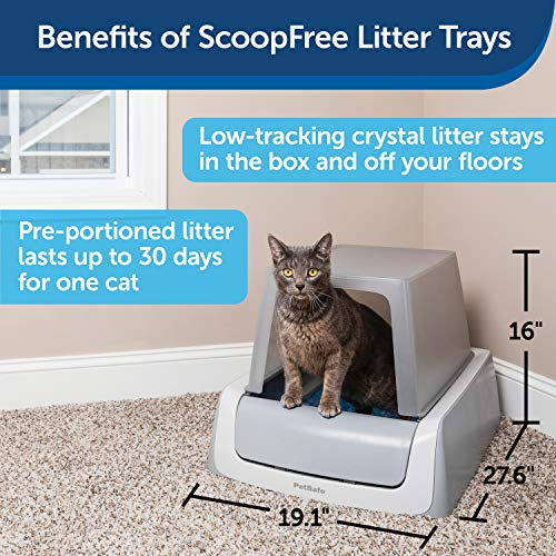PetSafe ScoopFree Automatic Self Cleaning Hooded Cat Litter Box – Ultra, Top-Entry – Purple or Taupe – Covered 2nd…