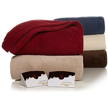 Biddeford 2024-905291-700 Electric Heated Knit MicroPlush Blanket, King, Taupe