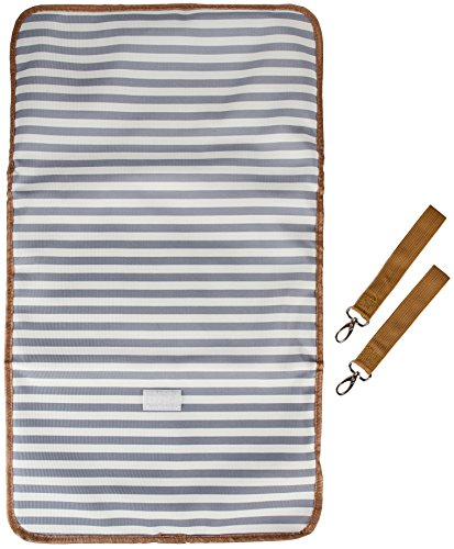 Diaper Bag by Blessed Momma - Aventura Canvas Designer Baby Bag Tote - w/ Large Changing Pad - Insulated Thermal Bottle Pocket - Stroller Straps