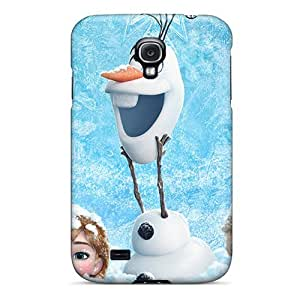 Anti-scratch Case Cover Love Kiss Protective Dsiney Frozen Case For Galaxy S4 by icecream design