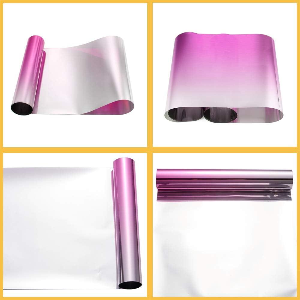 ATMOMO Pink Gradual Color Front Windshield Tint Tirm Sun Strip Pre-Cut Tint 3.9 Inch x 59 Inch
