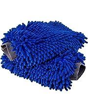 Ultimate Car Wash Mitt - 2 Pack - Premium Chenille Microfiber Wash Mitt - Wash Glove - Lint Free - Scratch Free - Regular Size