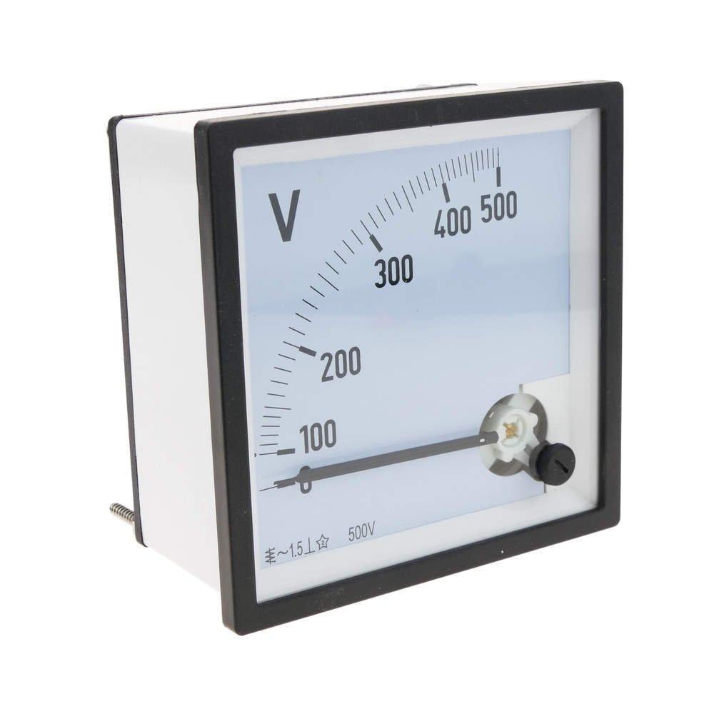 BeMatik - Elektrisches analoges quadratisches Paneelmeter 96x96mm 500V Voltmeter BeMatik.com