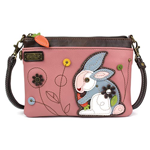 Chala Mini Crossbody/Purse with Convertible Strap Stylish, Compact, Versatile - Rabbit Rose