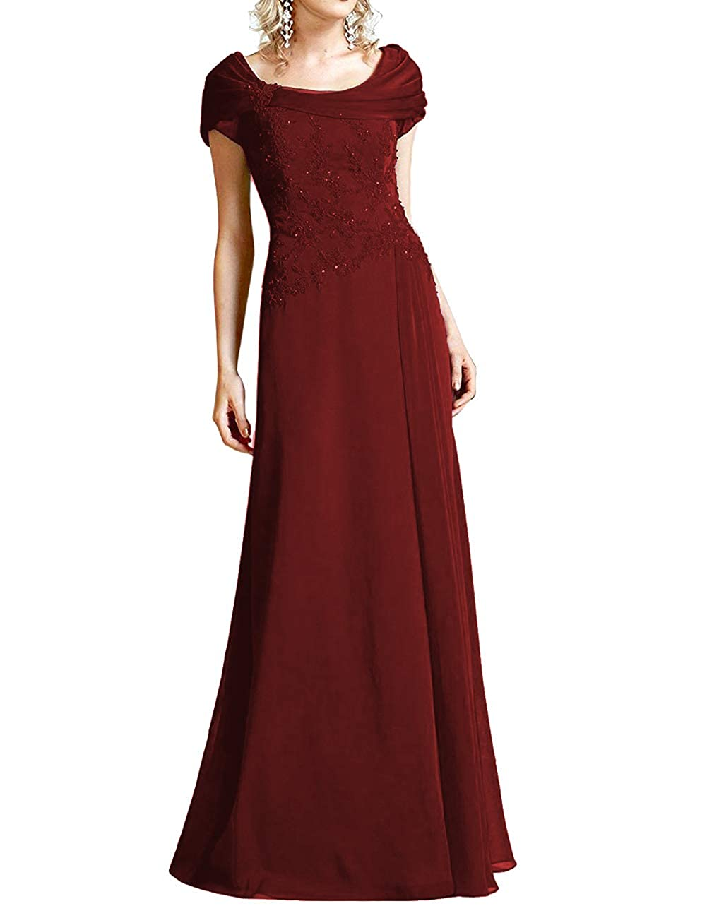 Dark Burgundy H.S.D Mother of The Bride Dresses Lace Formal Gowns Long Evening Dress Prom Wrap Shawl