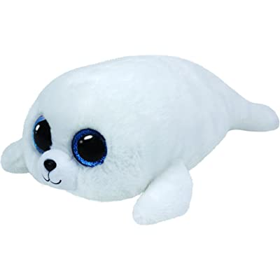 Ty ICY Seal Plush, White, Large: Toys & Games