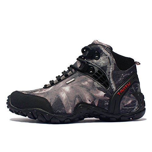 Fashion Sneakers PP Grey Hiking Top Walking Boots Shoes Men's High Camouflage Trekking Waterproof Outdoor Rqd7fnHxq