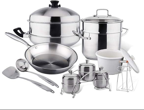 5 pièces Batterie de cuisine casserole antiadhésif Pots Et Des Casseroles Set Induction Céramique plaque de cuisson au gaz