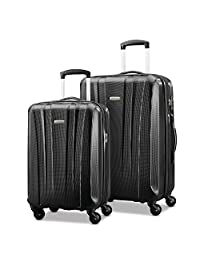 Samsonite 91822-1041 Pulse DLX Lightweight 2-Piece Hardside Luggage Set, Black, Checked – Medium