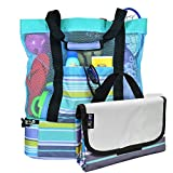 Best Beach Bags - Breezy Convenient Mesh Beach Tote Bag with Lightweight Review