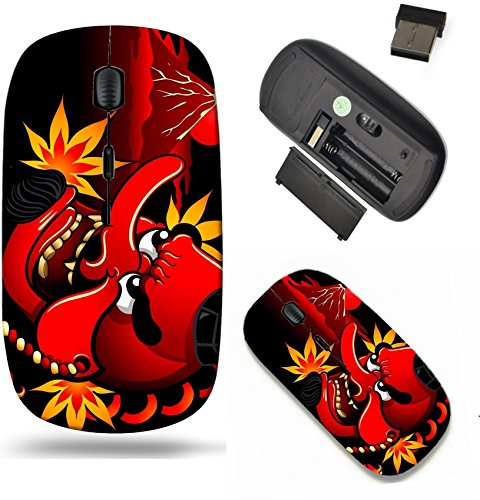 - Liili Wireless Mouse Travel 2.4G Wireless Mice with USB Receiver, Click with 1000 DPI for notebook, pc, laptop, computer, mac book Tengu mask over Mt Fuji and autumn leaves IMAGE ID 19736372