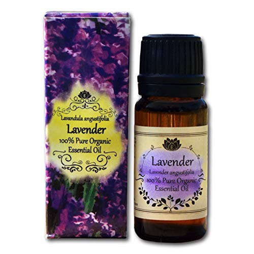 Organic Therapeutic Grade Lavender Essential Oil - 100% Pure Natural Depression, Anxiety, Stress Relief, Relaxing Treatment by with Bonus Guide ebook with DIY Projects … (Lavender, 10ml)