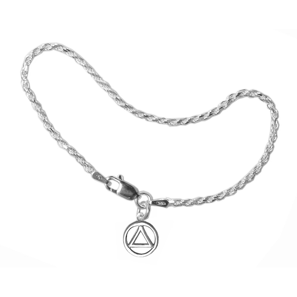 Light Rope Style Recovery Symbol Bracelet 7''or 8'' #140 (AA 7'')